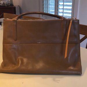 Coach Camel Leather Briefcase